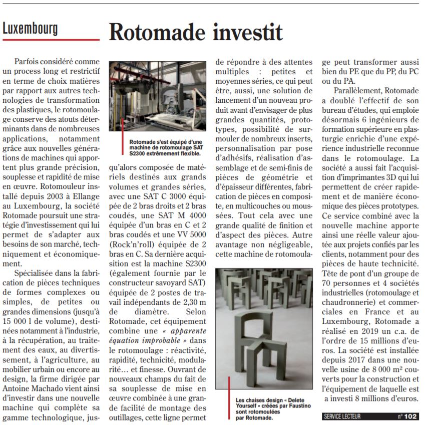 Article ROTOMADE Investit